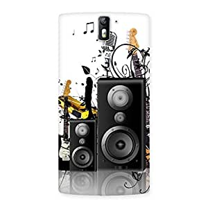 Delighted Music Comp Multicolor Back Case Cover for One Plus One