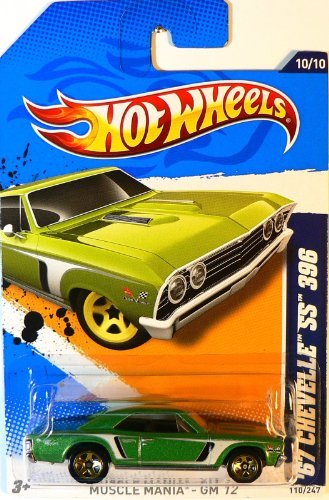 Mattel HOT WHEELS Muscle Mania-GM '12 GREEN '67 CHEVELLE SS 396 10/10
