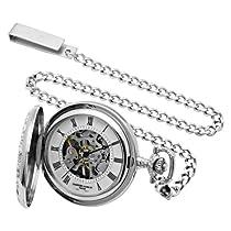 Charles-Hubert, Paris Sterling Silver Mechanical Pocket Watch