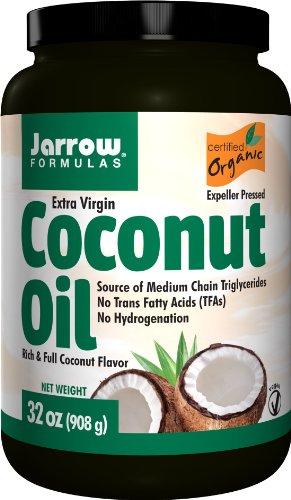 Jarrow Formulas Coconut Oil 100% Organic  Extra Virgin, Supports Cardiovascular Health, 32 fl. Oz. (Jarrow Coconut Oil Extra Virgin compare prices)