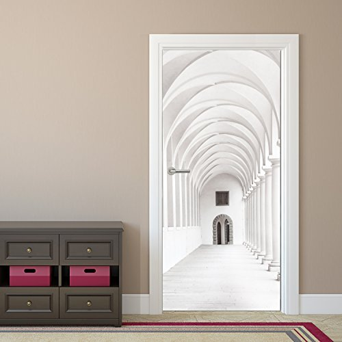 photo-wallpaper-door-mural-purely-arcade-92-x-202-cm-wallpaper-sidewalk-hallway-decodeals-by-decodea