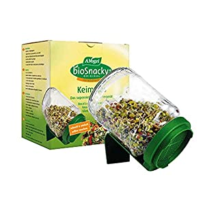 Amazon.com - A Vogel Biosnacky Germinator Seed Jar with Lid (Pack of 2