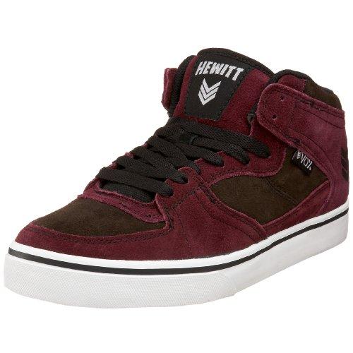 Vox Footwear Men's Hewitt 2 Skateboard Sneaker,Maroon/Slate,5 M