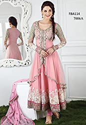 Saryu New light pink Embroidered Anarkali Suit
