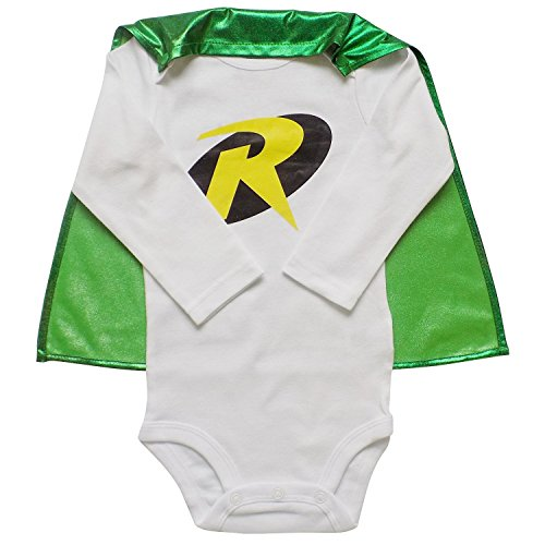 So Sydney Superhero Onesie Romper with Detachable Cape Baby, Toddler, Boy, Girl (S (3-6 Months), (Baby Super Hero)