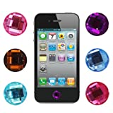 Skque 6 pieces Bling Diamond Crystal Style Home Button Sticker for Apple ipad iPod iPhone-decorate more beautiful