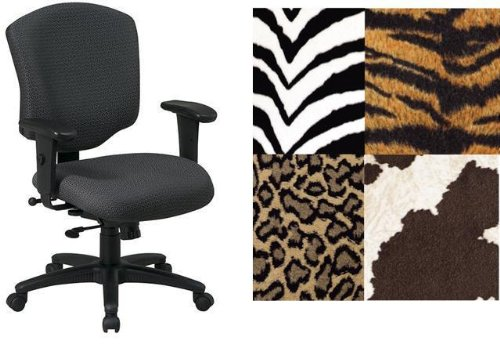 Surprising Office Star 41573 Bobcat Animal Print Heavy Duty Office Desk Squirreltailoven Fun Painted Chair Ideas Images Squirreltailovenorg