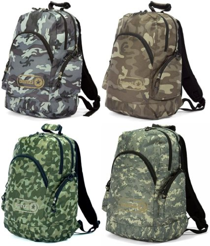Boys Mens Camouflage Army Backpack Rucksack ***Woodland*Desrt*Urban*MARPAT***