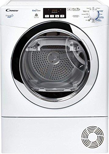 Candy GVC D1013BX 47 Sèche Linge Condensation 10 kg Départ Différé, sonde électronique, Affichage du Temps Restant, Ecran