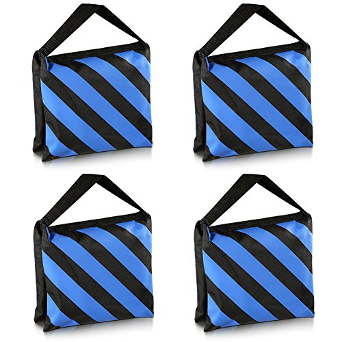 neewerr-set-von-vier-schwarz-blau-hochleistungs-sandsack-studio-video-buhne-film-sandsacke-satteltas