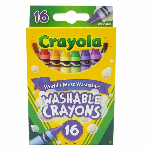 Regular Size Washable Crayons, 16-Color Pack front-1058895