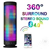 Qcute Ultra Portable Wireless Pulse Bluetooth Speaker for Ipod,ipad,iphone,mp3,laptop,android Smart Phone,dancing Fantasy Color with Music Melody,beautiful Sound and Colorful LED Light