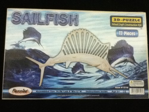Puzzled - 3D Natural Wood Puzzles - SAIL FISH (17 Pieces)