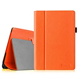 Fintie Lenovo Yoga 10 / Yoga 10 HD+ Folio Case - Premium PU Leather Cover With Stylus Holder (For Yoga Tablet 10.1-Inch / Yoga Tablet 10.1-Inch HD+) - Orange