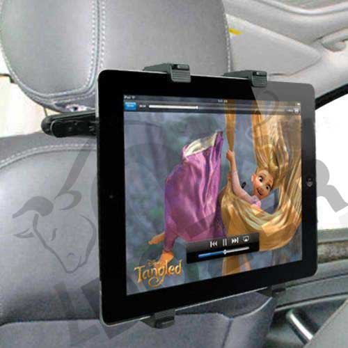 Universal Durable 180 Degree Rotation Car Mount Holder (Cab) For 7 ~ 10.2 Inch Tablets + Free Oxdozer Stylus Pen Fits Fuhu All Models (Black Backseat Headrest) front-610080