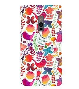 Fuson Premium Printed Hard Plastic Back Case Cover for OnePlus 2