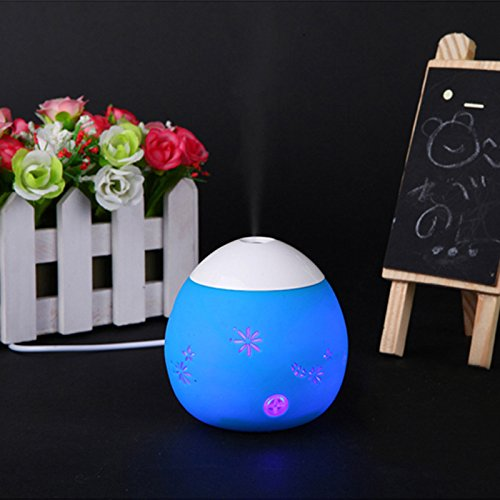 WNOSH(TM) Creative gift tumbler portable mini USB/usb egg-shaped mist maker ultrasonic dinosaur egg shaped humidifiers with led light Essential Oil Aroma Diffuser,for bedroom, office,Car (blue) (83mm Air Filter compare prices)