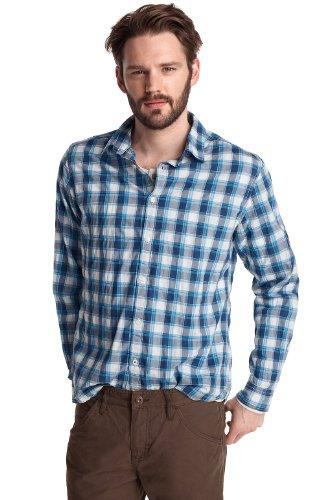 Esprit Men's Casual Shirt Washed Indigo  M