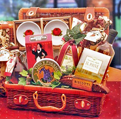 Bon Appetite Italian Gourmet Food Picnic Hamper Gift Basket
