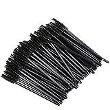 Vktech 100Pcs One-Off Disposable Eyelash Brush Mini Mascara Wand Applicator Makeup
