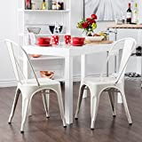 Replica Tolix Metal Chairs set of 2 IN SILKY WHITE