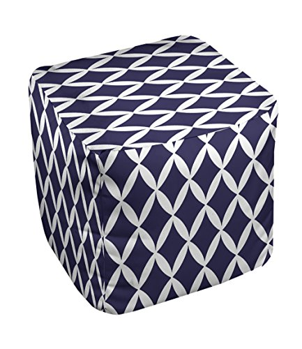 E by design FG-N1-Spring_Navy-13 Geometric Pouf