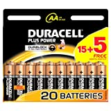 Duracell MN1500 Plus Power AA Size Batteries - Pack of 20