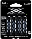 eneloop XX 2500mAh Typical / 2400 mAh Minimum, High Capacity, 4 Pack AA Ni-MH Pre-Charged Rechargeable Batteries