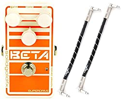 SolidgoldFx Beta Bass Drive Pedal w/ 2 Cables from SolidgoldFx
