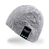 Rotibox Winter-Fashional Bluetooth Beanie Doppel gestrickte Musik Hut mit Funkkopfhörer