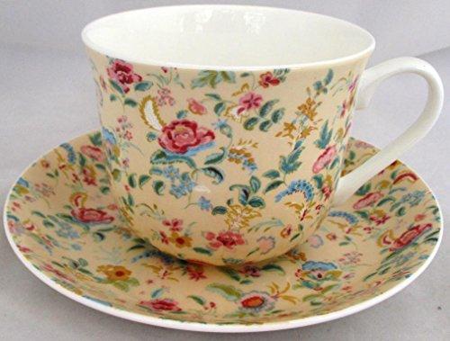 Petite tasse et soucoupe pour petit déjeuner Petite Bombay Bombay Crème en porcelaine fine décorée à la main au Royaume-Uni grande tasse et soucoupe de livraison gratuite au Royaume-Uni