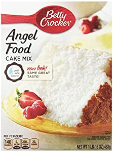 Betty Crocker Angel Food Cake Mix, White, 16-Ounce Boxes (Pack of 12)