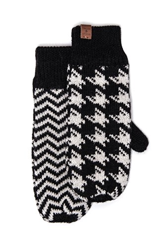 Unisex Houndsooth Mitten Gloves