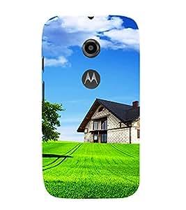 EPICCASE Farm House Mobile Back Case Cover For Moto E 2nd Generation (Designer Case)