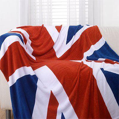 Union Jack / British Flag Luxury Super Soft Microfibre Throw, 150 x 200 Cm