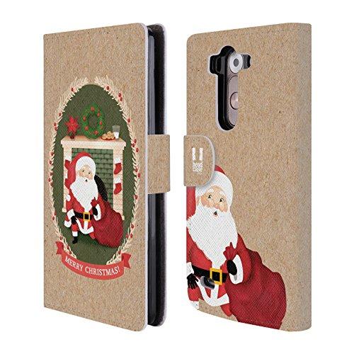 Head Case Designs Camino Tempo Di Natale Cover telefono a portafoglio in pelle per LG G3 S / G3 Beat / G3 Vigor