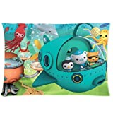 HipsterOne Octonauts Gup Pillowcase (Standard 20x30 inch)-Custom Zip Pillow Case Cover