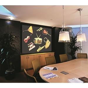 "Signature Series E Matte White Electric Projection Screen Viewing Area: 150"" diagonal"