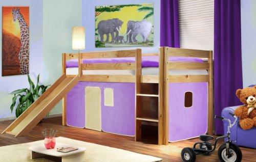 Abbigliamento bambini o neonati camerette - Letto a soppalco con scivolo ...