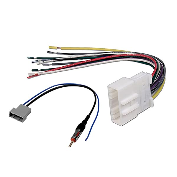 AFTERMARKET CAR Stereo Radio Receiver Wiring Harness W/Radio ... on nissan radio harness, nissan wire connectors, auto stereo harness, nissan fuse, nissan frontier trailer wiring diagram, nissan bose stereo system wiring, nissan speedometer, nissan antenna adapter, nissan murano stereo replacement, nissan battery harness,