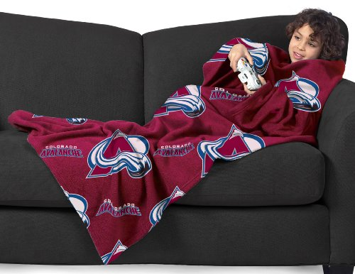 Nhl Colorado Avalanche Youth Comfy Throw Blanket With Sleeves front-890742