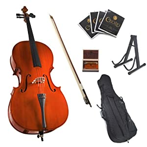 Cecilio CCO 100 Student Cello with Soft Case, Stand, Bow, Rosin, Bridge and Extra Set of Strings, Size 1/2 choose buy forth putting news other related contents