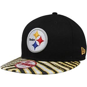 NFL Era Pittsburgh Steelers Zubaz Basic 9Fifty Adjustable Snapback Hat - Black