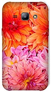 Timpax Slip-resistant, stain-resistant and tear-resistant Hard Back Case Cover Printed Design : Flowers on the floor.Exclusively Design For : Samsung Galaxy J1