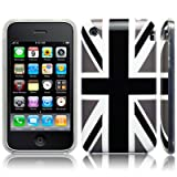 iPhone 3GS / 3G 'Cool Britannia Black' (Designed by Creative Eleven) TPU Gel Skin / Case / Cover - Part Of The Qubits Accessories Rangeby Qubits