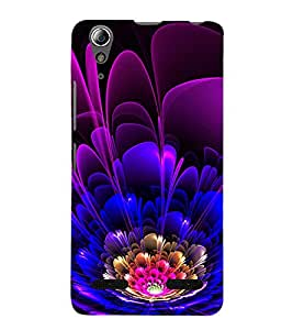 Modern Art Design Flower Pattern 3D Hard Polycarbonate Designer Back Case Cover for Lenovo A6000 Plus :: Lenovo A6000+ :: Lenovo A6000