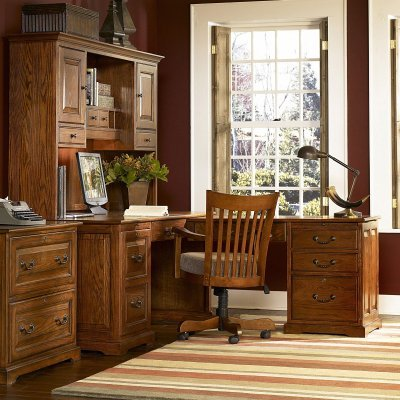 Buy Low Price Comfortable Riverside Seville Square L-Shaped Computer Desk and Hutch – RVS1138 (B0047D4Q5G)