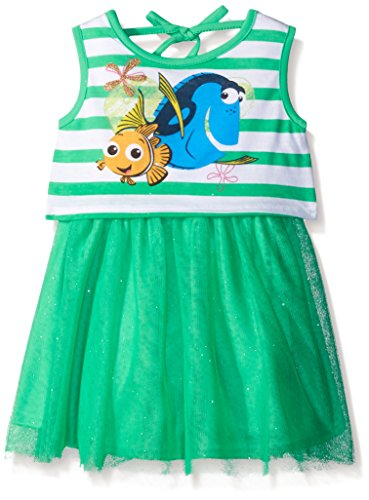 Disney Girls' Nemo and Dory Jersey Top and Tulle Dress