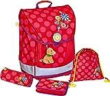 Die Spiegelburg - Juego de mochila para el colegio (4 piezas), diseño con flores divertidas