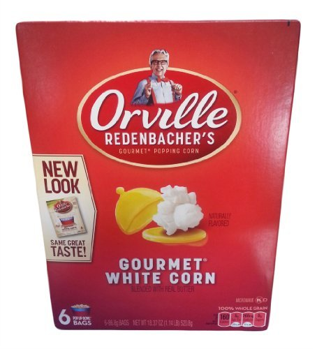 Orville Redenbacher, Gourmet White Corn, Microwave Popcorn With Real Butter, 18.24Oz Box (Pack Of 2)